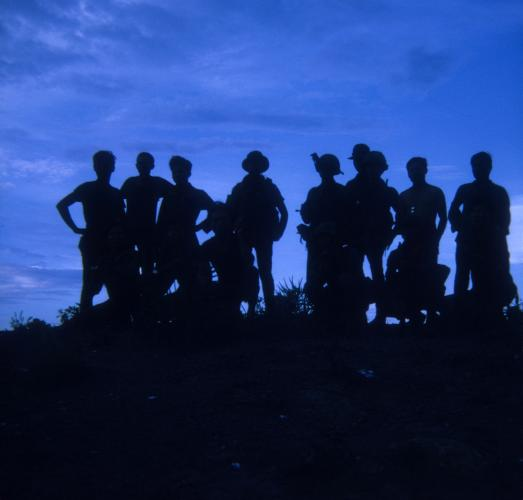 Vietnam - June 15, 1970: Group portrait.