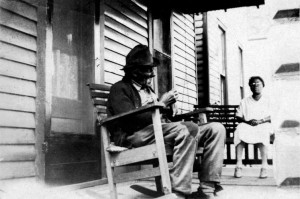 A Man Smokes His Pipe