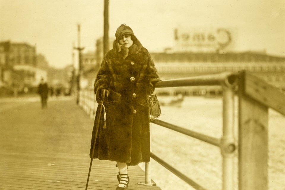 "A ""flapper"" on the boardwalk at Atlantic City (November 30, 1924)."