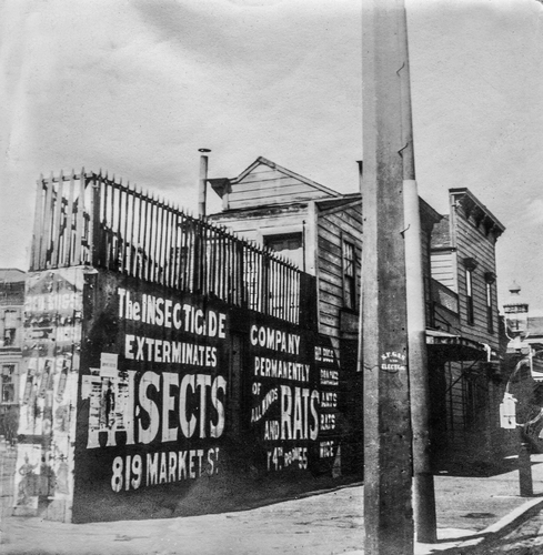 San Francisco, California - August 16, 1910: A booming extermination business for rodents following the earthquake of 1906. Date is approximate; true date unknown.