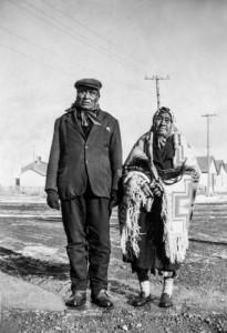 Blackfeet couple on the rez in Browning, Montana (Nov. 1948)
