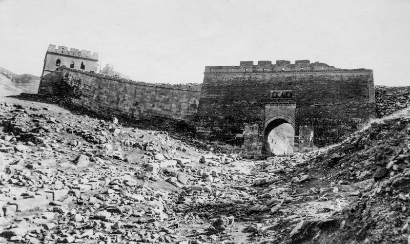 The Great Wall of China and an associated deris field. (1935)