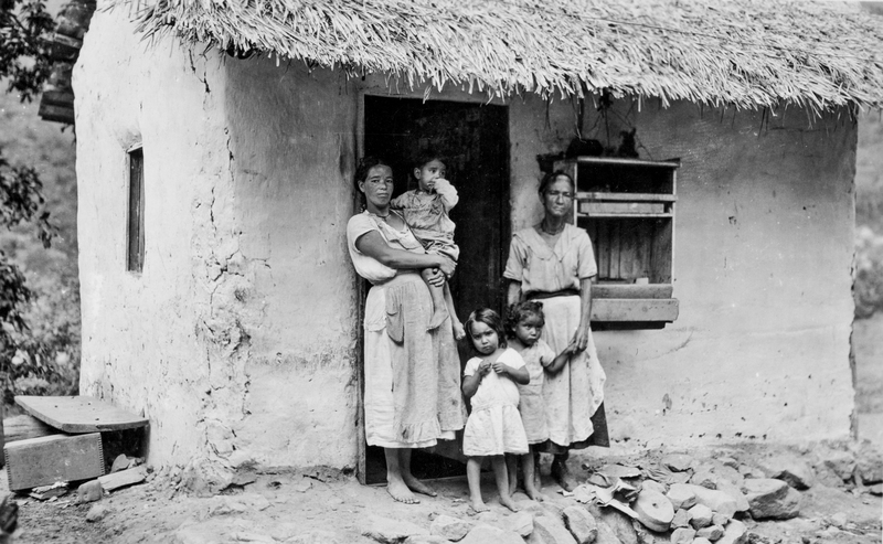 Honduran family living in poverty c.1939.