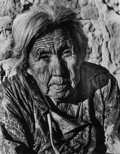 Sun baked old Indian Woman of the southwestern United States, c.1955