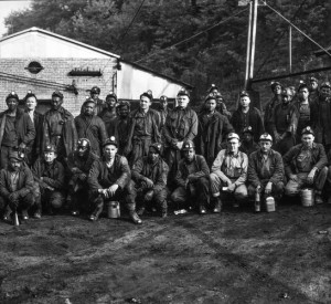 Section of the day force in a coal mine.