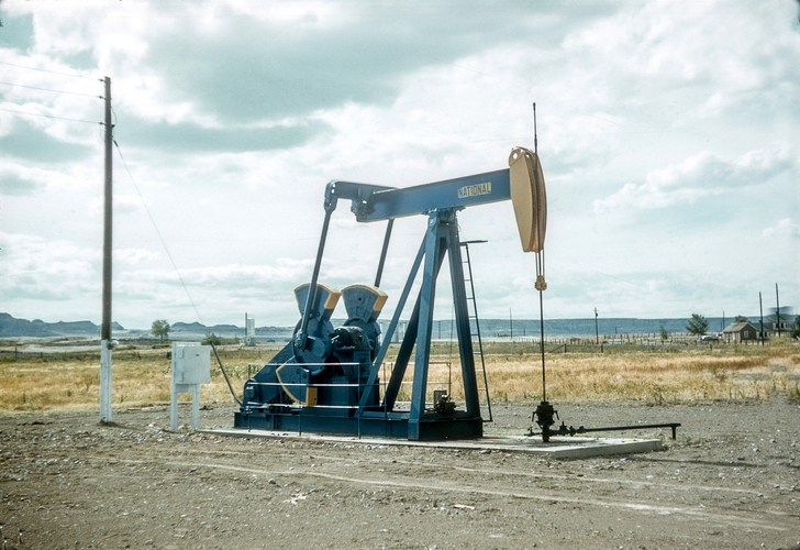 National Oil Company oil well pump jack (August 1956)