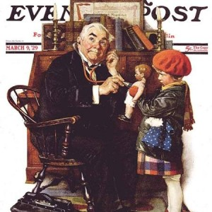 By Norman Rockwell for the Saturday Evening Post. March 9, 1929