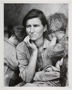 Taken by Dorothea Lange, Nipomo, California (1936).