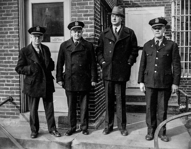 Actually the warden and guards at Thomaston State Prison in Maine (1940).