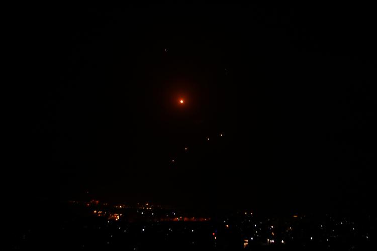 Resistance Missile Over Gaza